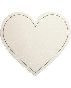Herz, Größe 75x69 mm, 120 g, Naturweiß, 10 Stck./ 1 Pck.