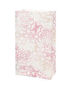 Papiertüten, Wasserfarben, H: 21 cm, Größe 6x12 cm, 80 g, 8 Stck./ 1 Pck.