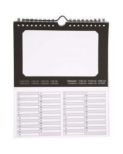 Ewiger Kalender, Größe 19x23 cm, 180 g, 5 Stck./ 1 Pck.