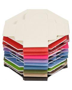 Farbige Faltschachteln, Größe 5,5x5,5 cm, 250 g, 100 Stck./ 1 Pck.