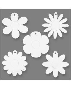 Blumen, D: 20 cm, 400 g, Weiß, 5x3 Stck./ 1 Pck.