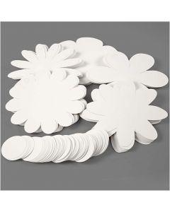 Blumen, D: 20 cm, 400 g, Weiß, 5x20 Stck./ 1 Pck.