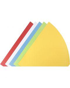 Kegel, H: 68 cm, D: 20 cm, Sortierte Farben, 5 Stck./ 1 Pck.