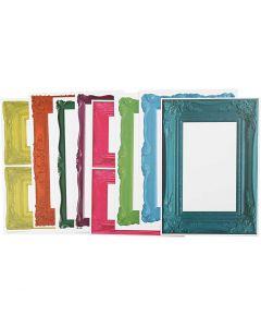 Rahmen, Größe 26,2x18,5 cm, Kräftige Farben, 16 Bl. sort./ 1 Pck.