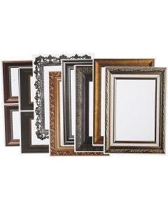 Rahmen, Größe 26,2x18,5 cm, Metallic-Farben, 16 Bl. sort./ 1 Pck.