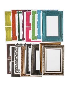 Rahmen, Größe 26,2x18,5 cm, Sortierte Farben, 64 Bl. sort./ 1 Pck.