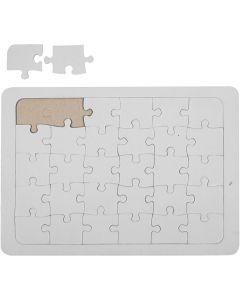 Puzzle, Größe 15x21 cm, Weiß, 1 Stck.