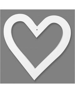 Herzrahmen, Größe 18x18 cm, 230 g, Weiß, 16 Stck./ 1 Pck.