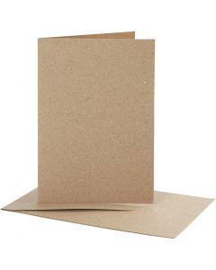 Karten & Kuverts, Kartengröße 10,5x15 cm, Umschlaggröße 11,5x16,5 cm, Natur, 10 Set/ 1 Pck.