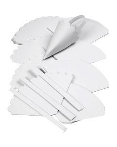 Zuckertüten-Stanzformen, H: 13 cm, D: 8 cm, Weiß, 240 Stck./ 1 Pck.