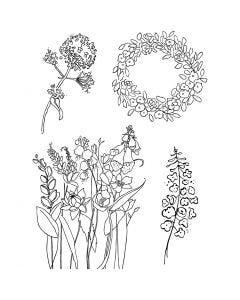 Silikonstempel, Frühling, 11x15,5 cm, 1 Bl.