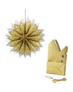 Sterne aus Papiertüten, 170 g, Gold, 1 Set