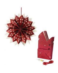 Sterne aus Papiertüten, 200 g, Rot, 1 Set