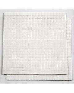 3D-Klebepads, Größe 5x5 mm, Stärke: 1 mm, Weiß, 2 Bl./ 1 Pck.