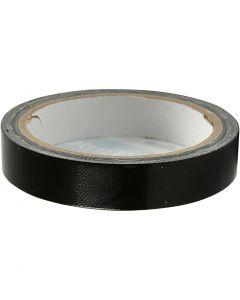 Duct Tape, B: 19 mm, Schwarz, 25 m/ 1 Rolle