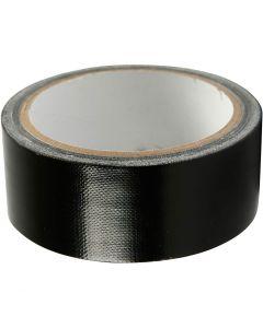 Duct Tape, B: 38 mm, Schwarz, 25 m/ 1 Rolle