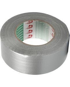 Isolierband, B: 50 mm, Silber, 50 m/ 1 Rolle