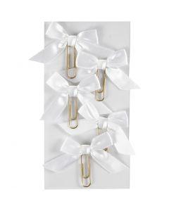 Metallklammern, Größe 40x70 mm, Weiß, 5 Stck./ 1 Pck.