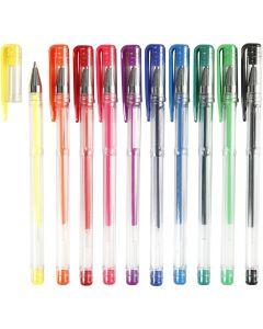 Gelschreiber, Strichstärke 0,8 mm, Sortierte Farben, 10 sort./ 1 Pck.