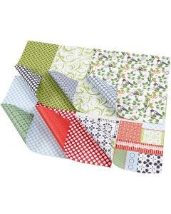 Design-Papier - Sortiment, 30,5x30,5 cm, 120 g, 30 Bl. sort./ 1 Pck.