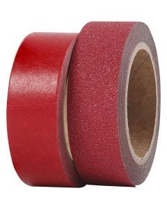 Design-Klebeband, B: 15 mm, Rot, 2 Rolle/ 1 Pck.