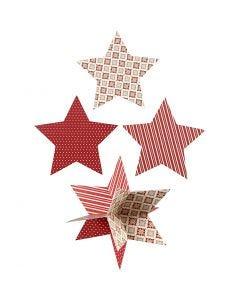 3D-Sterne, D: 15 cm, 300 g, 3 Stck./ 1 Pck.