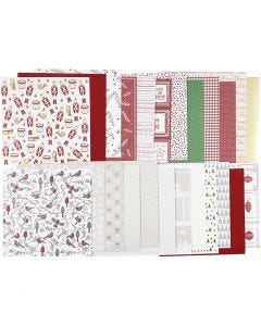 Design-Papier im Block, 30,5x30,5 cm, 120+128 g, 24 Bl./ 1 Pck.