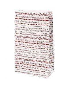 Papiertüten, Kritzeleien, H: 21 cm, Größe 6x12 cm, 8 Stck./ 1 Pck.