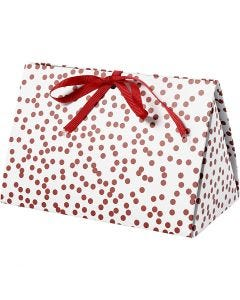 Geschenkverpackung, Punkte, Größe 15x7x8 cm, 250 g, Rot, 3 Stck./ 1 Pck.