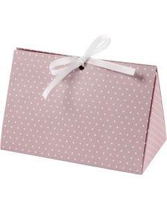 Geschenkverpackung, Punkte, Größe 15x7x8 cm, 250 g, Rosa, Weiß, 3 Stck./ 1 Pck.