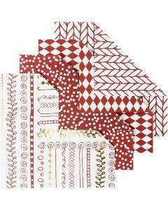 Origami-Papier, Größe 10x10 cm, 80 g, Rot, 40 Bl./ 1 Pck.