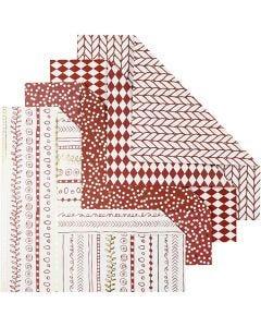 Origami-Papier, Größe 15x15 cm, 80 g, Rot, 40 Bl./ 1 Pck.