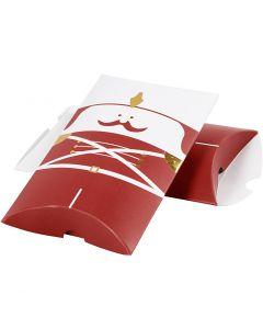 Geschenkverpackung, Nussknacker, Größe 14,9x9,4x2,5 cm, 300 g, Gold, Rot, Weiß, 3 Stck./ 1 Pck.