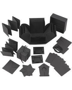 Explosion Box, Größe 7x7x7,5+12x12x12 cm, Schwarz, 1 Stck.