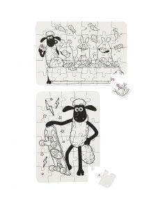 Puzzlespiel, Größe 13x18,3 cm, 2 Stck./ 1 Pck.