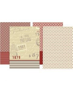Découpage-Papier, 25x35 cm, 17 g, 8 Bl. sort./ 1 Pck.