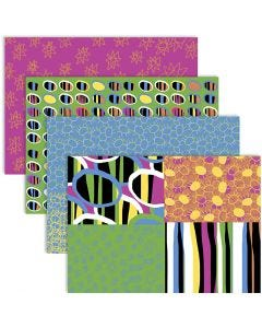 Découpage-Papier, 25x35 cm, 17 g, Fröhliche Farben, 4x2 Bl./ 1 Pck.