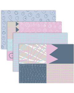 Découpage-Papier, 25x35 cm, 17 g, 4x2 Bl./ 1 Pck.
