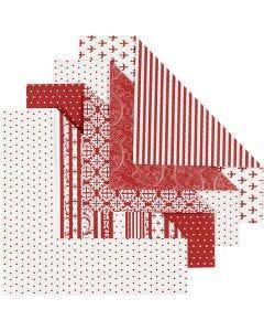 Origami-Papier, Größe 15x15 cm, 80 g, 50 Bl. sort./ 1 Pck.