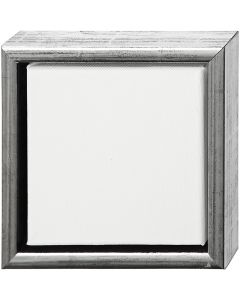 ArtistLine Künstlerleinwand mit Rahmen, Tiefe 3 cm, Größe 19x19 cm, Antiksilber, Weiß, 1 Stck.