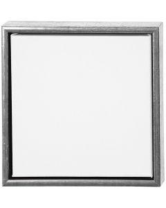 ArtistLine Künstlerleinwand mit Rahmen, Größe 34x34 cm, 360 g, Antiksilber, Weiß, 1 Stck.