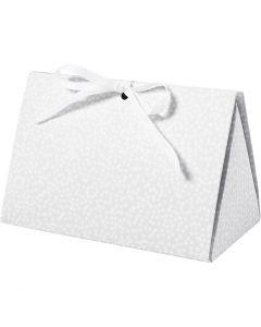 Geschenkverpackung, Punkte, Größe 15x7x8 cm, 250 g, Grau, 3 Stck./ 1 Pck.