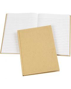 Notizbuch , A5, 60 g, Braun, 1 Stck.