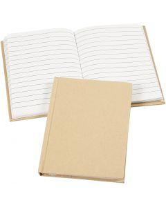 Notizbuch , A6, 60 g, Braun, 1 Stck.