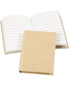 Notizbuch , A7, 60 g, Braun, 1 Stck.
