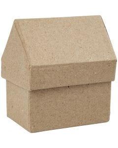 Schachteln in Hausform, H: 10,5 cm, Größe 6x8,5 cm, 4 Stck./ 1 Pck.