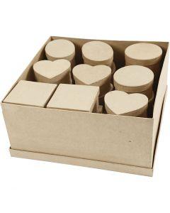 Mittelgroße Schachteln, H: 5 cm, D: 10-12 cm, 28 Stck./ 1 Pck.