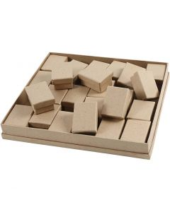 Schachteln, H: 3,5 cm, Größe 5x7 cm, 24 Stck./ 1 Pck.