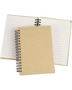 Notizbuch mit Spiralbindung, A6, 60 g, Braun, 1 Stck.