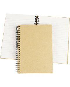 Notizbuch mit Spiralbindung, A5, 60 g, Braun, 1 Stck.